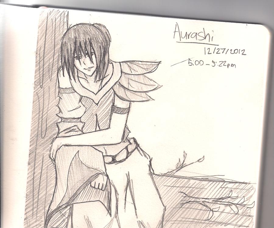 Aurashi Sketch by xYorutenshi