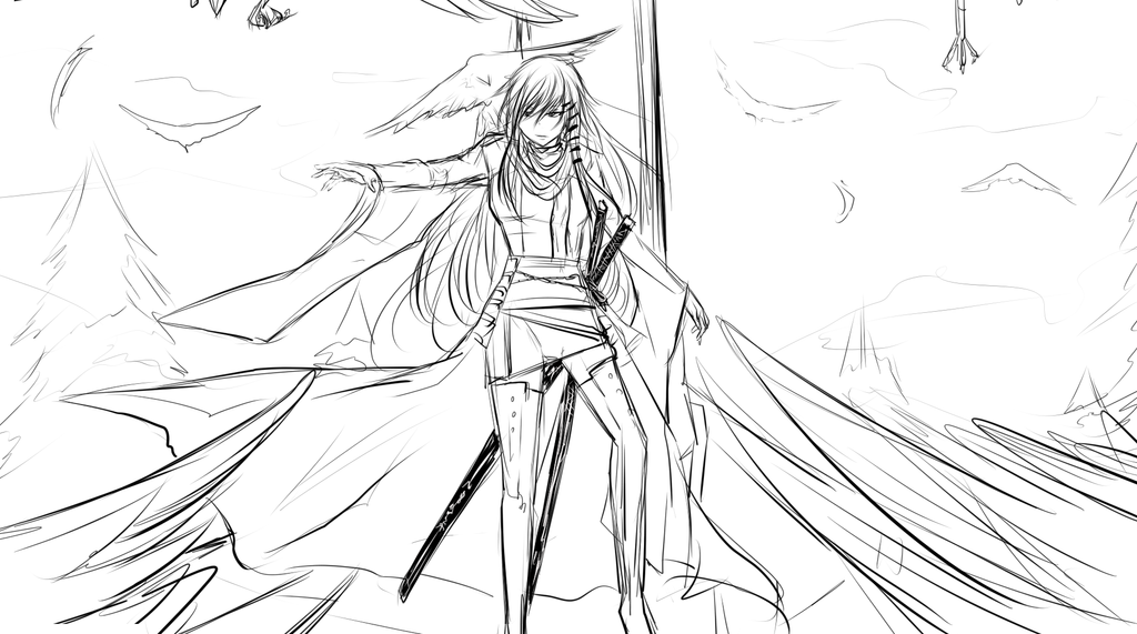 WIP-Return of the Tengu Princess by xYorutenshi