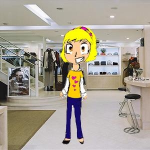 girl in the shop :D by Kunka
