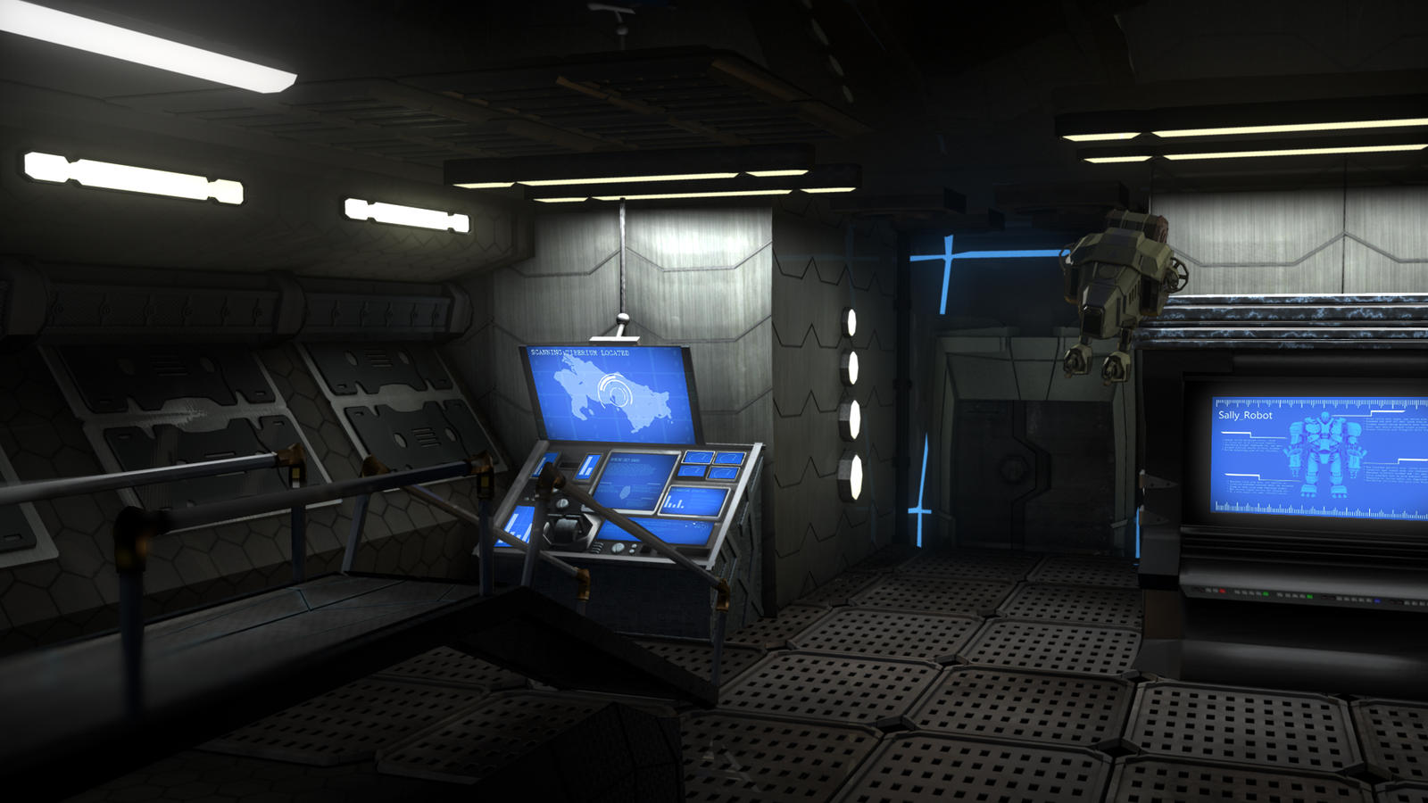 Control room entrance by keeganwest on deviantart for Futuristic control room