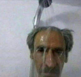 OLD MAN AND OLD SHOWER