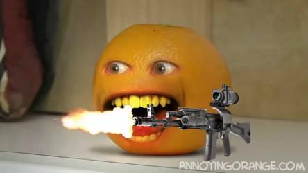 Annoying Orange with an AK-47