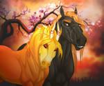 Fiery blossoms by DFriz
