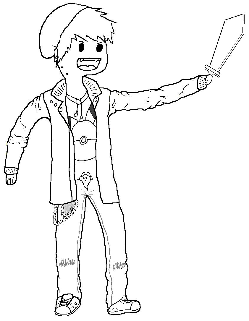 Adventure Time Me! (Lineart) by bojangle387