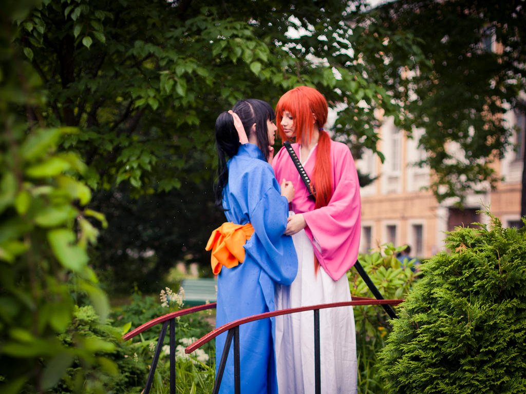Rurouni Kenshin - Kenshin/Kaoru love by cat-shinta