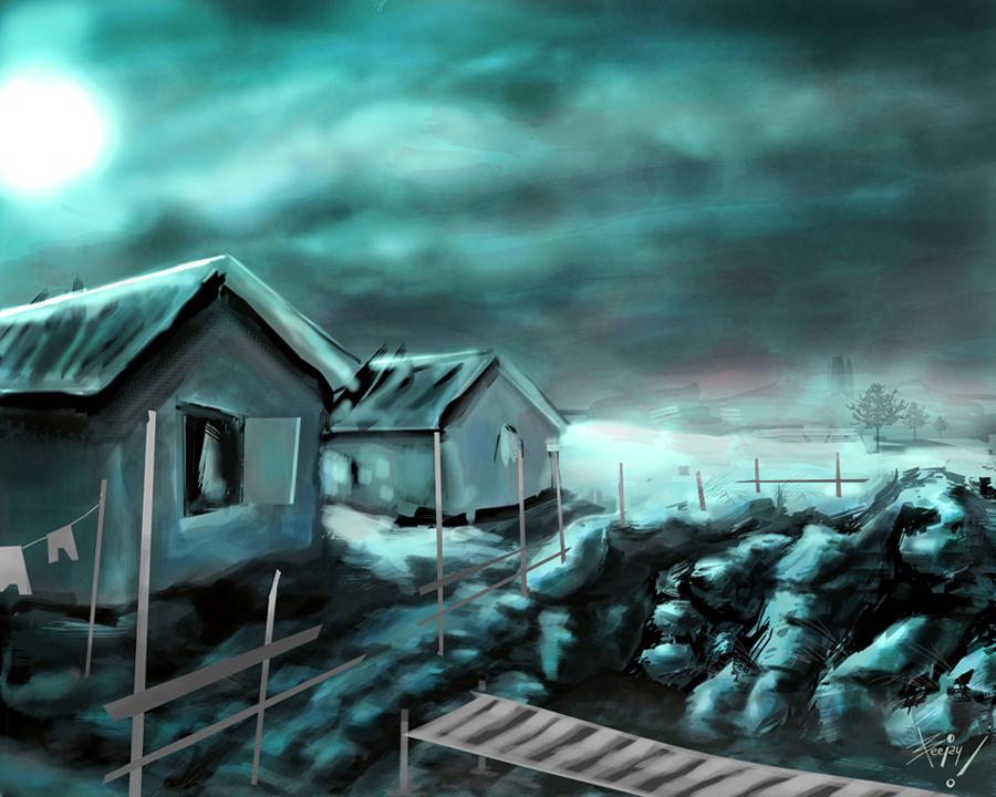 blue village by artnerdx