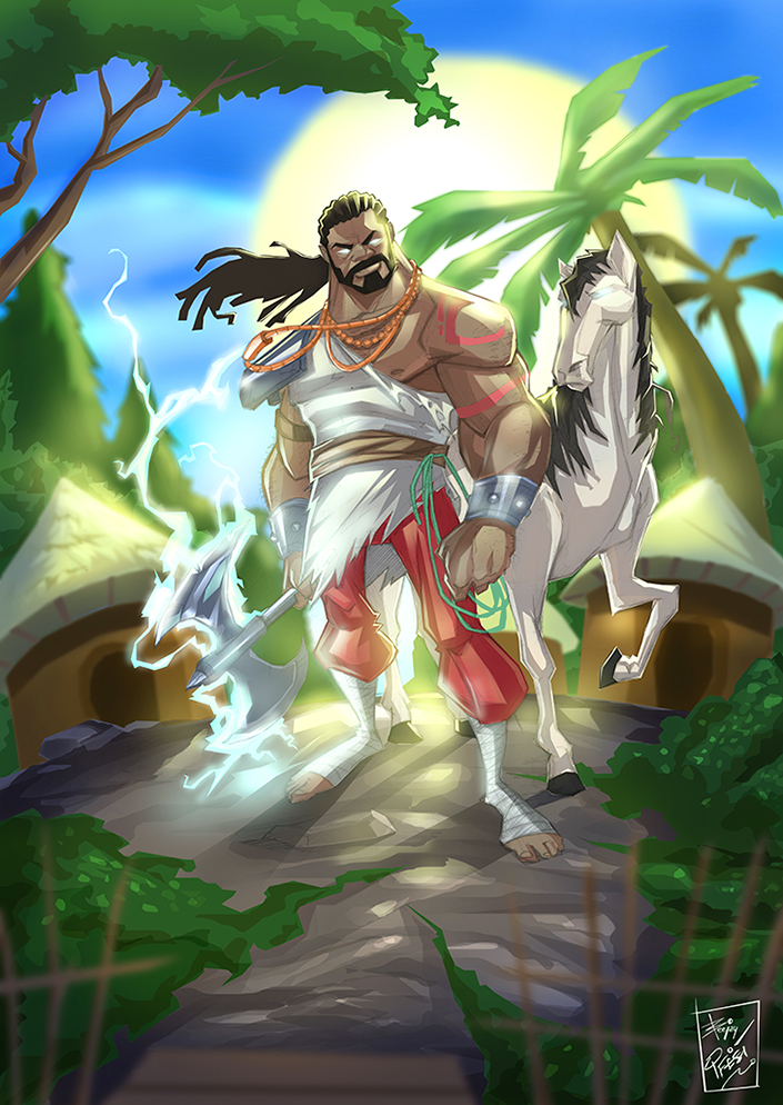 shango:god of thunder and lightning by artnerdx