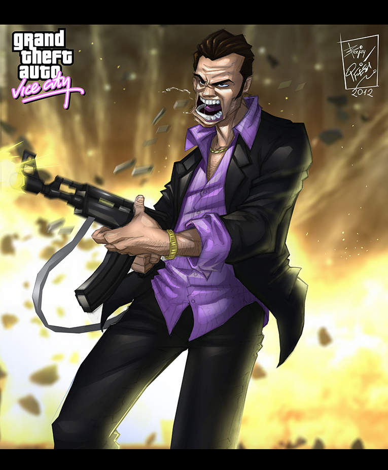 Grand theft auto:vice city tribute by artnerdx