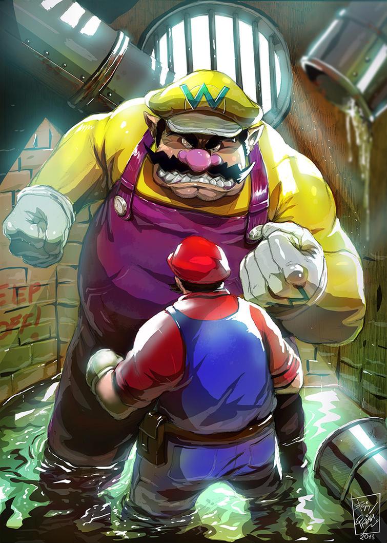 Wario Vs Mario By Artnerdx On DeviantArt