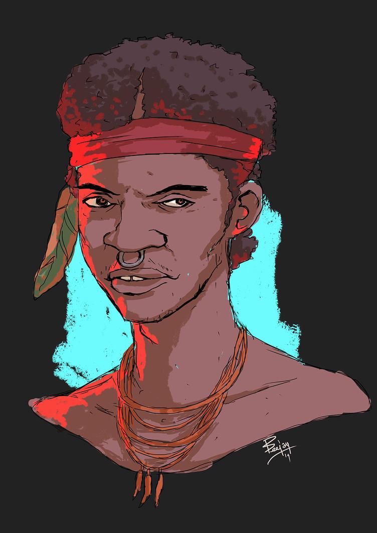 african dude by artnerdx