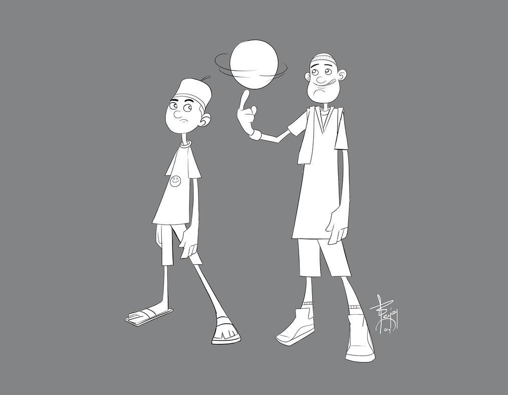 character set2( line art) by artnerdx