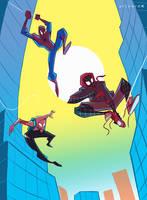spider-man : Into the spider-verse by artnerdx