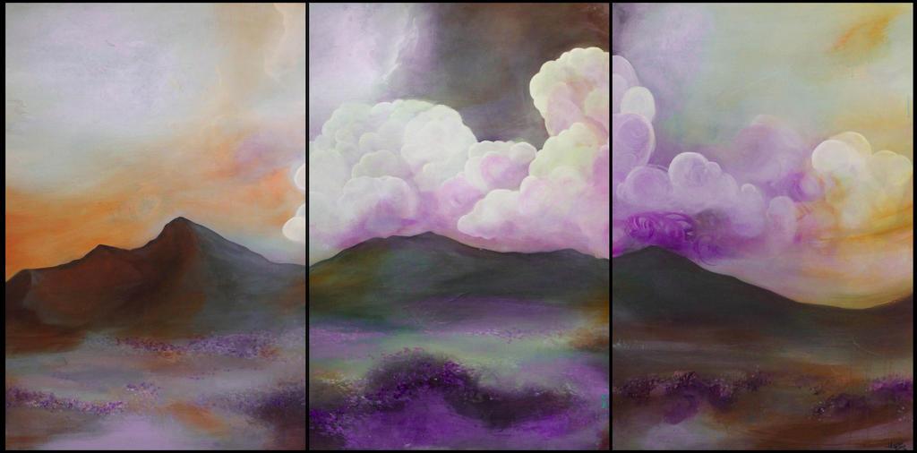 Lavender Field Commission by HeatherHowellArt