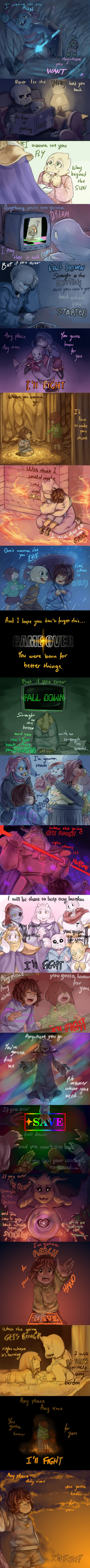 Undertale Lyric Comic: I'll Fight by Nojida