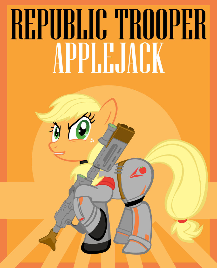 Republic Trooper Applejack by Bouxn