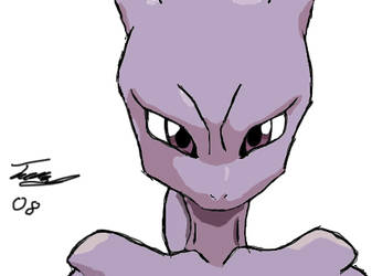 Mewtwo by Necron-cheese