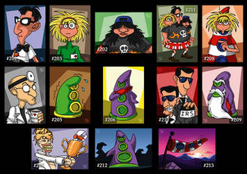 Day of the Tentacle - Cards by Merinid-DE
