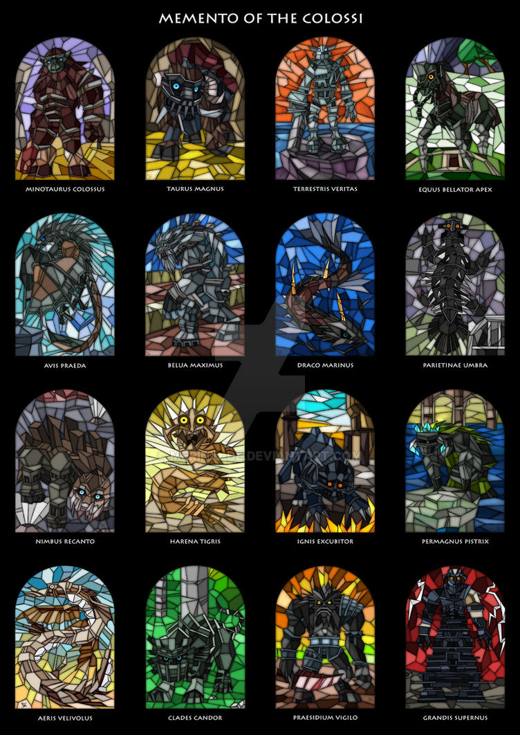 Memento of the colossi all16 by merinid de on deviantart for Shadow of the colossus tattoo