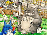 Soccer Chaos with Totoro