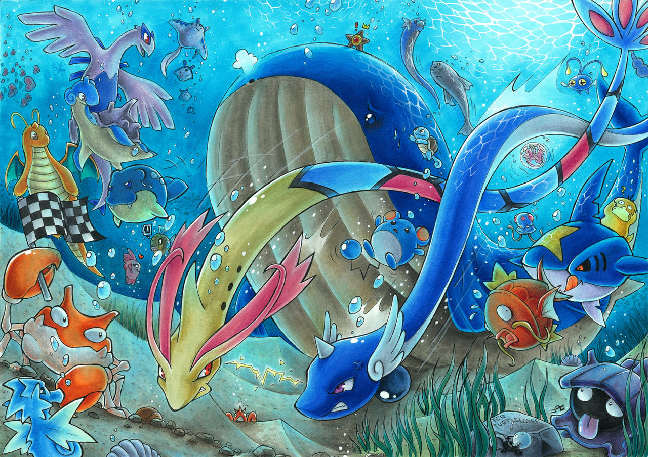Underwater-Race by Merinid-DE on DeviantArt