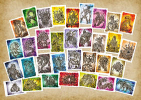Lovecraft Creature Cards - PRINTS available