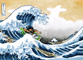 Hoagie and the Great Wave off Kanagawa - ATC