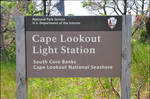 Cape Lookout Lighthouse Sign