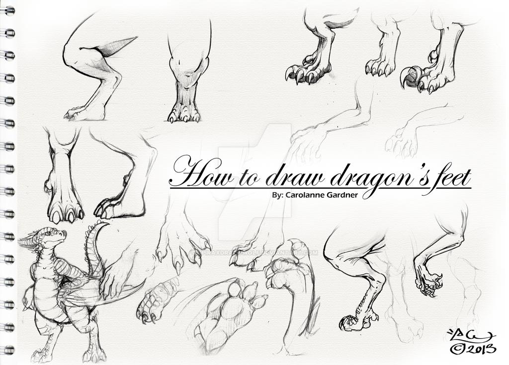 How to draw dragons feet by SpiraxDracowolf on DeviantArt