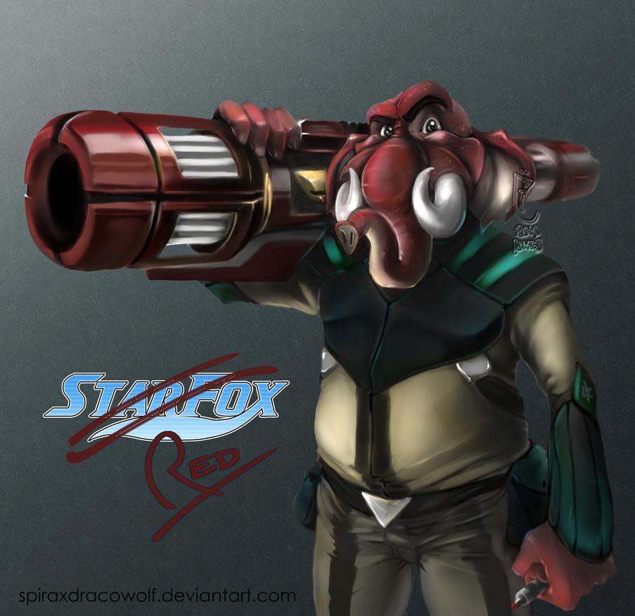 Red: Starfox Request by SpiraxDracowolf
