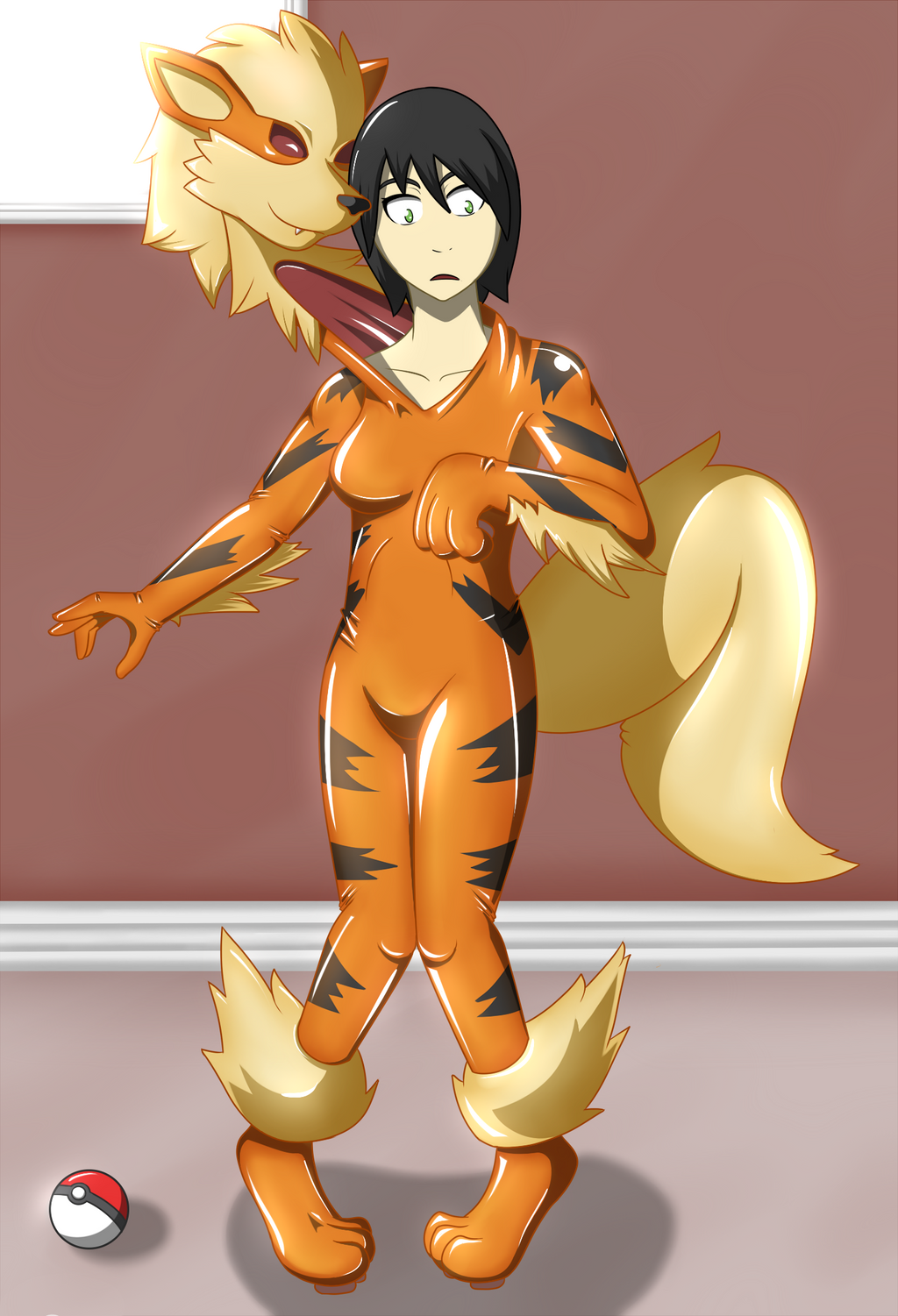 Very Latex furry sex suit transformation yiff