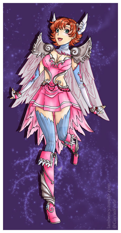 Pink Valkyrie by Lambentworld