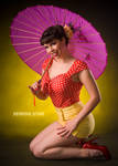 Pink Parasol Red and Yellow