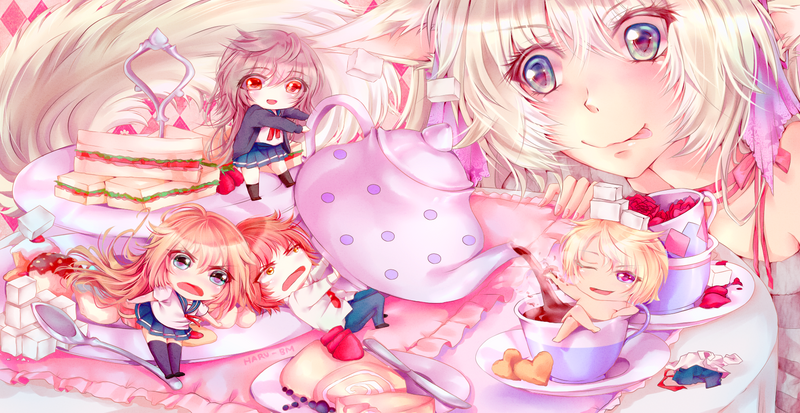 Tea Party with the chibi Team by Haru-bm