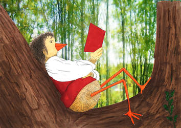 Frobierd in the tree by Krisssto