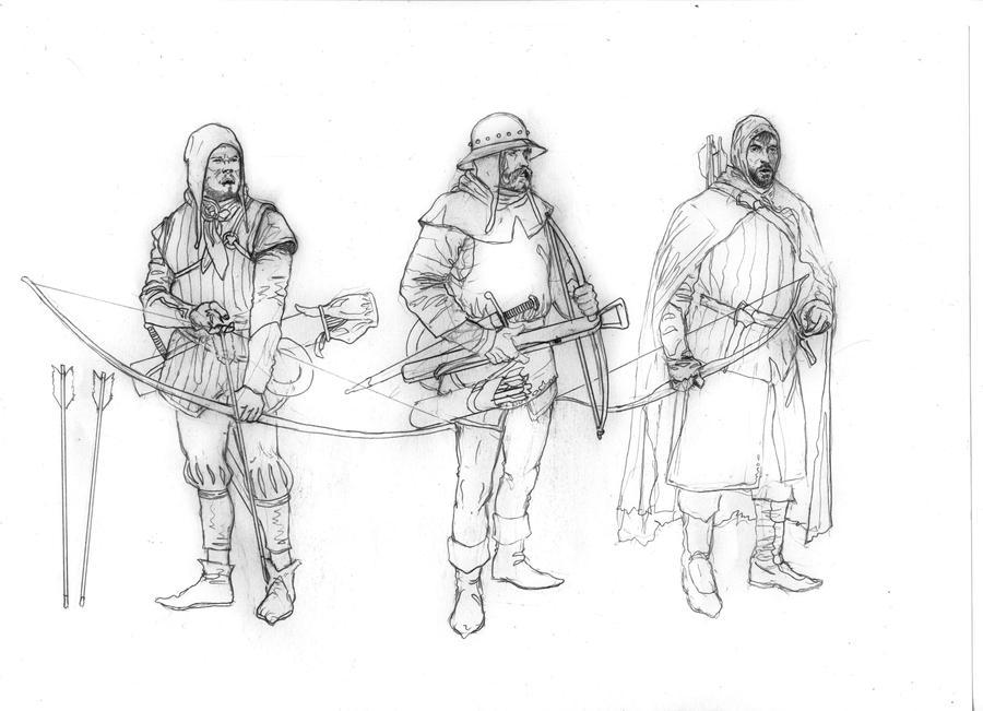 Line Art Characters : Fantasy character line drawings by jonnygray on deviantart