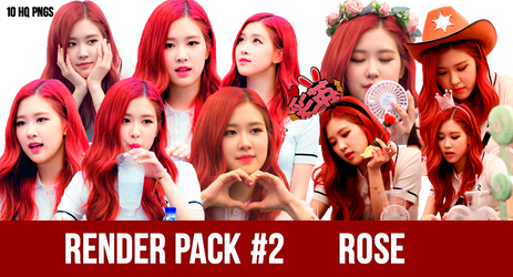 Render Pack #2  Blackpink Rose by txzico