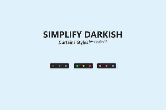 Simplify Darkish - Curtains Styles