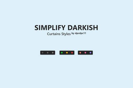 Simplify Darkish - Curtains Styles