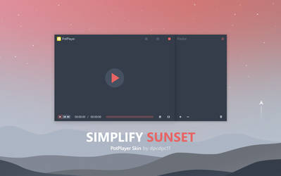 Simplify Sunset - PotPlayer Skin