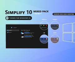 Simplify 10 Mixed Windows 10 Theme Pack (17 in 1)