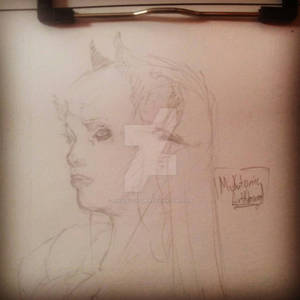 Some One Sketch of Girl Demon :)