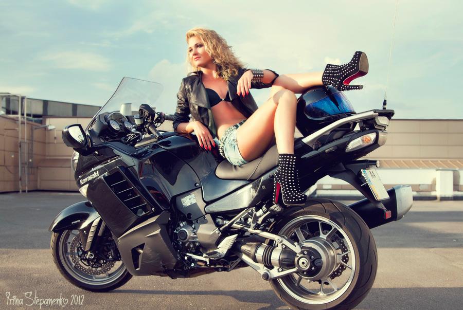 girl on motorcycle by IrinaStepanenko