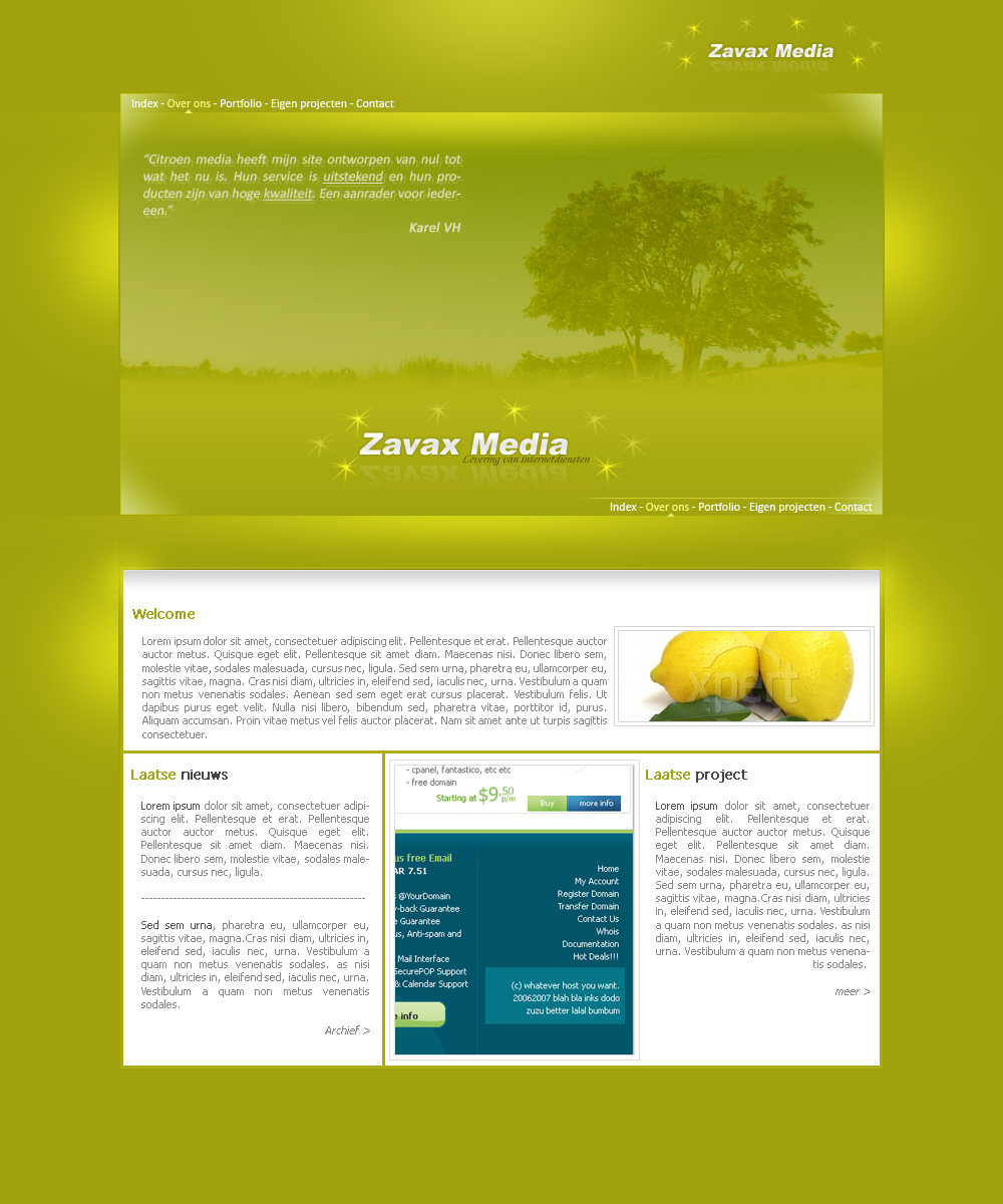 Portfolio - internet service by Tyr4nT