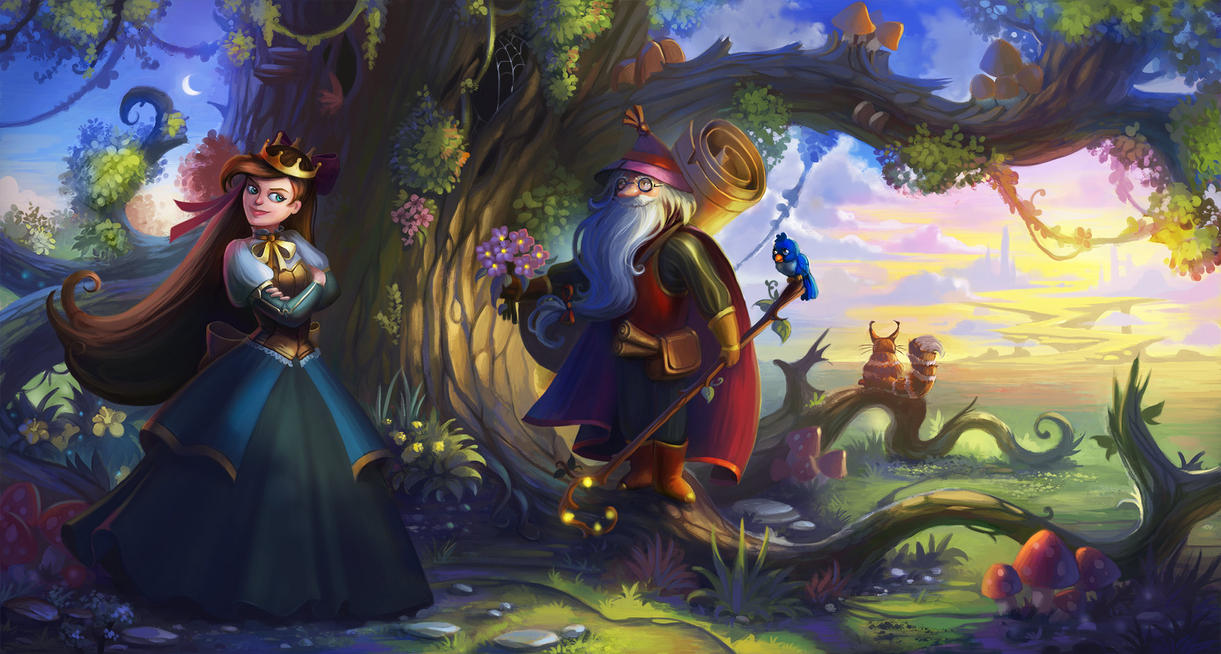 Princess and mage by lepyoshka