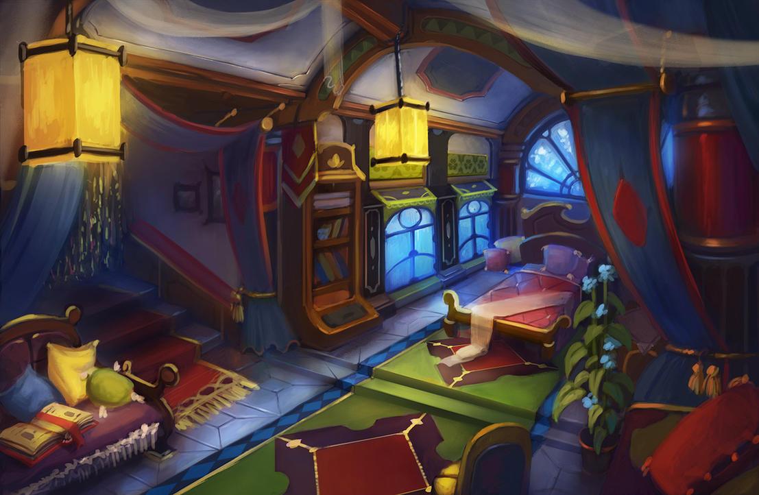 bedroom by lepyoshka