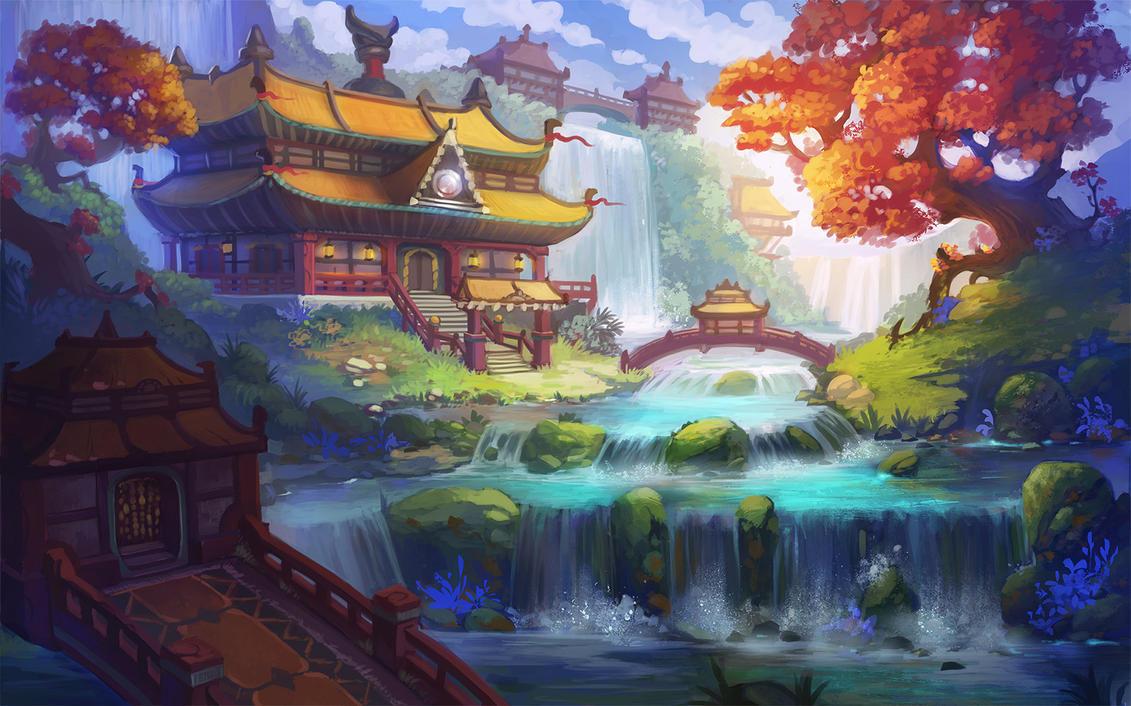 Chinese house by lepyoshka