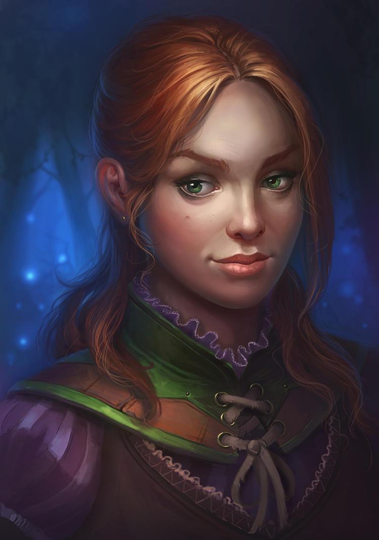 fantasy portrait by lepyoshka