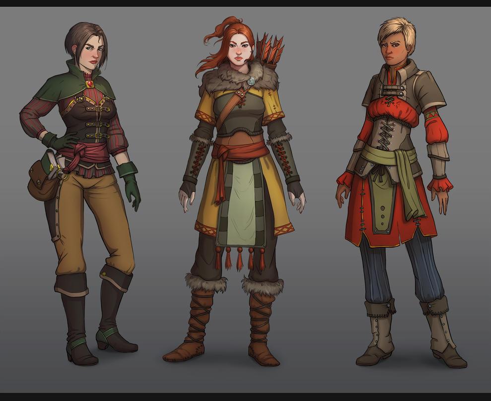 Female characters by lepyoshka