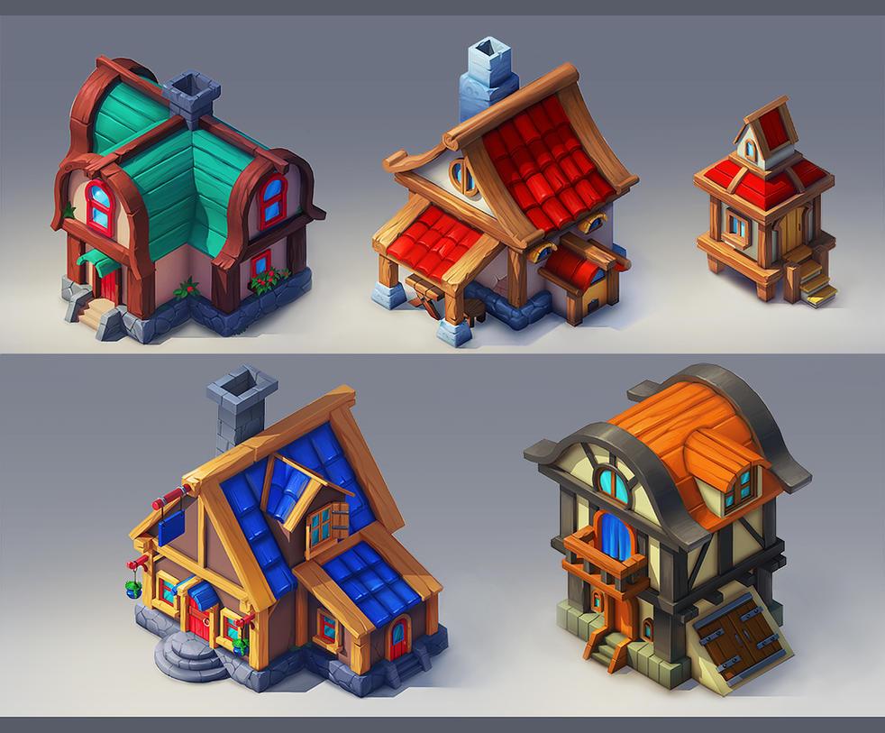 Houses by lepyoshka
