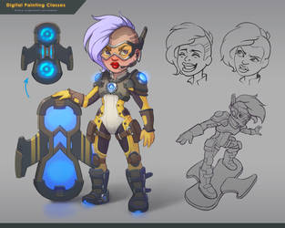 sci-fi character by lepyoshka